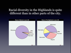 Racial diversity differences in Wards