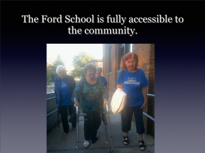 Ford School ramp is fully accessible